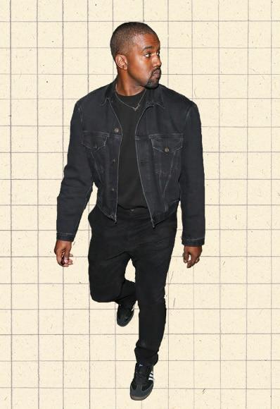 Kanye West wearing black