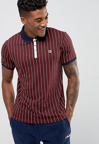 Fila Vintage striped polo shirt | ASOS Style Feed