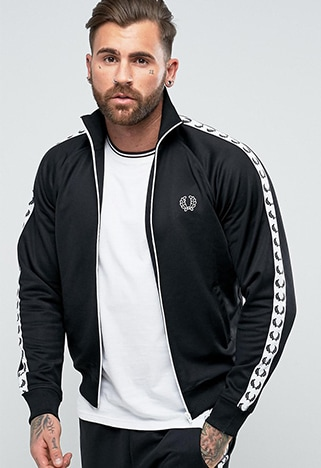 Fred Perry Sports Authentic taped track jacket | ASOS Style Feed