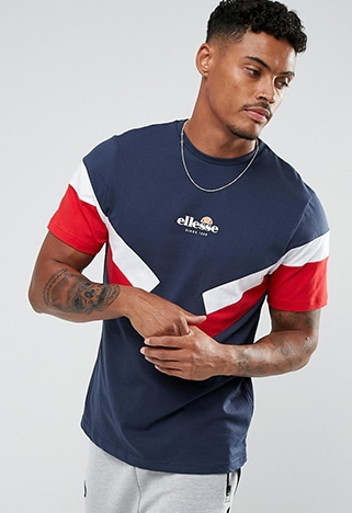 Ellesse T-shirt with panel sleeve | ASOS Style Feed