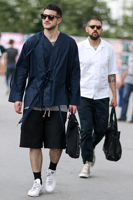 Street-style model wearing a black kimono | ASOS Style Feed