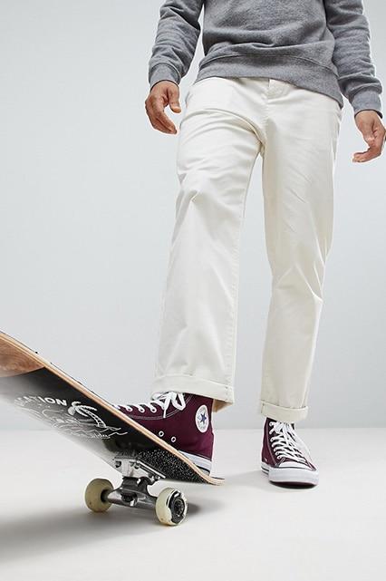 ASOS - Pantalon chino style skateur - Beige Homme