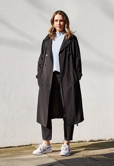 annabelle portant les asos x reebok classic nylon