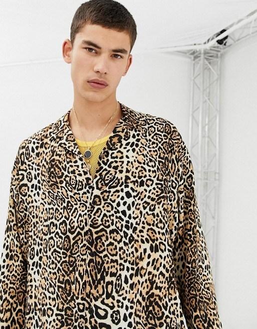 Leopardenhemd für Herren, erhältlich bei ASOS