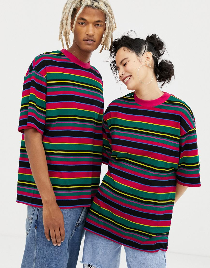 Unisex stripe T-shirts from COLLUSION, exclusively available at ASOS | ASOS Fashion & Beauty Feed