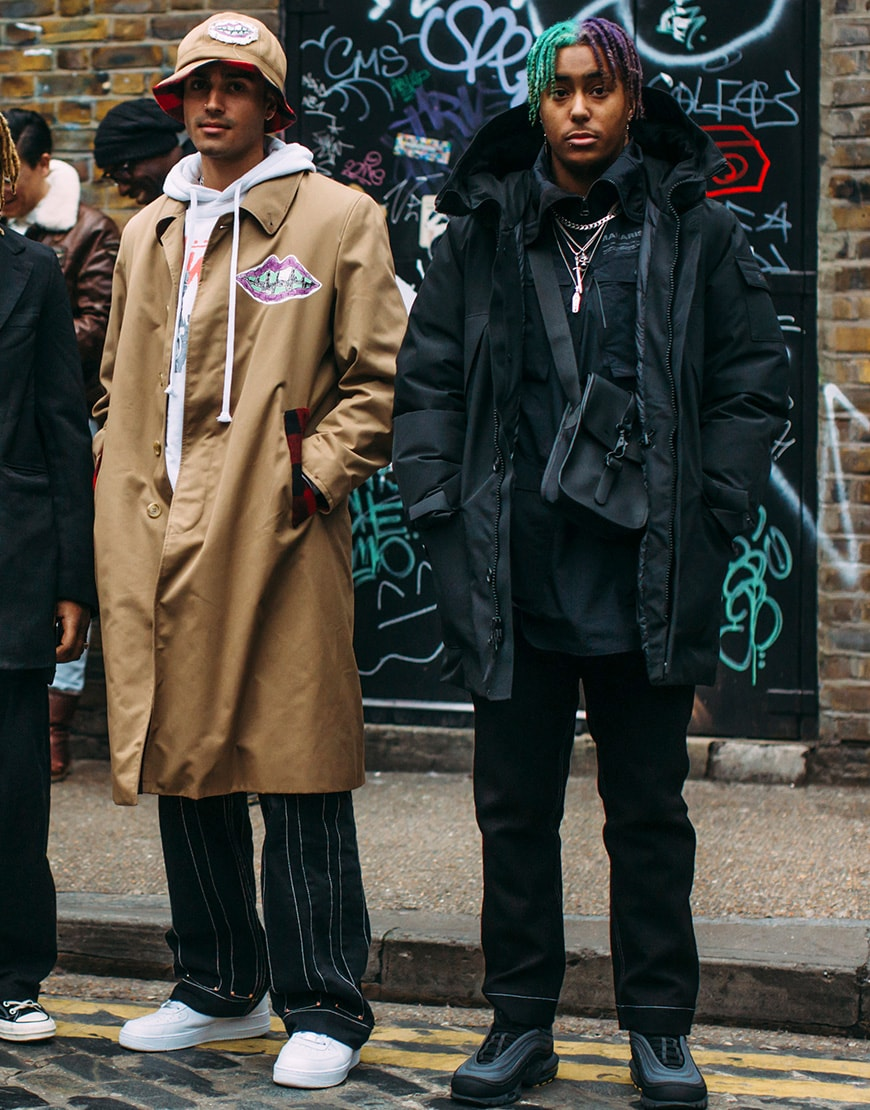 Two street-stylers wearing long coats in camel and black | ASOS Style Feed