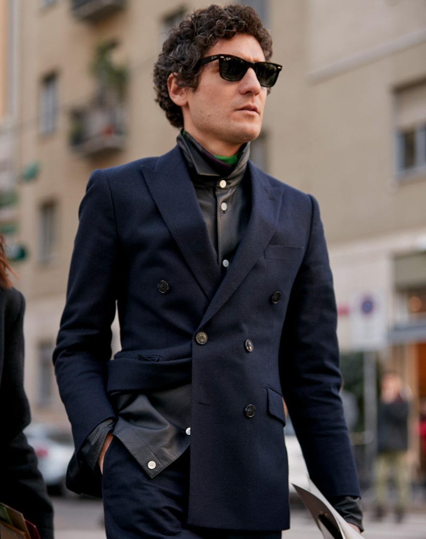 A street style picture from Milan Fashion Week.
