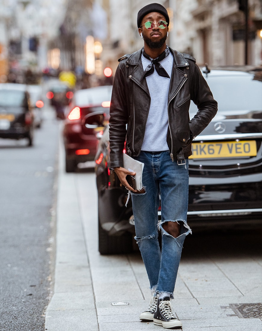 A street style picture from London Fashion Week.