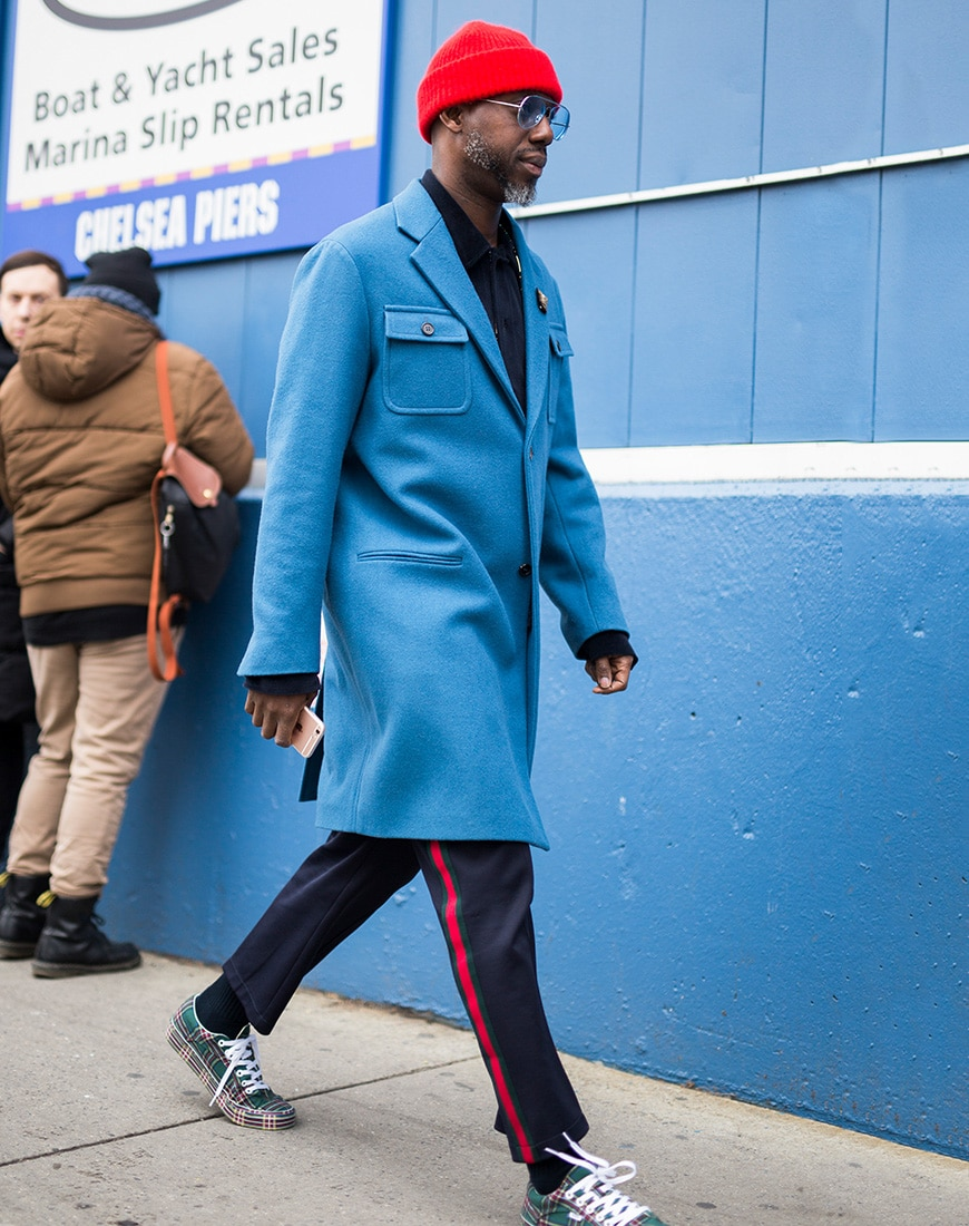 A street style picture from Paris fashion week.
