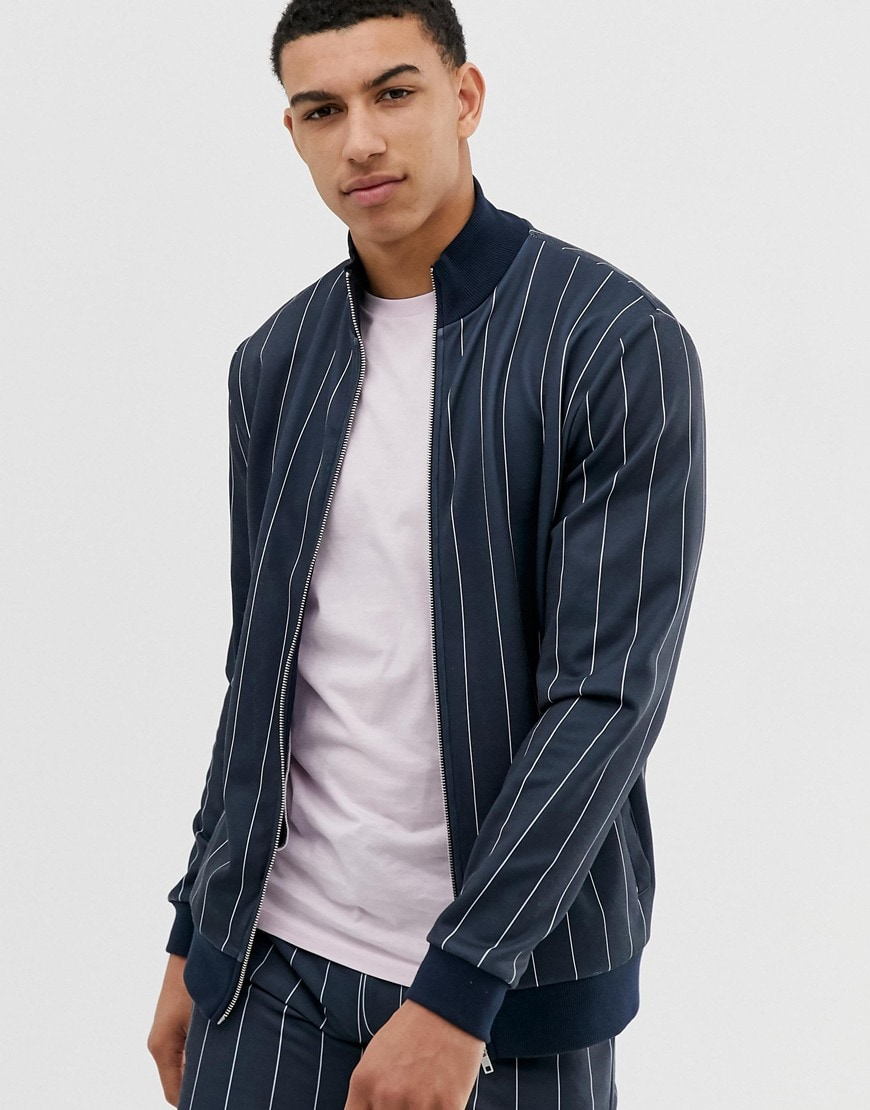 ASOS DESIGN co-ord pinstripe jacket | ASOS Style Feed