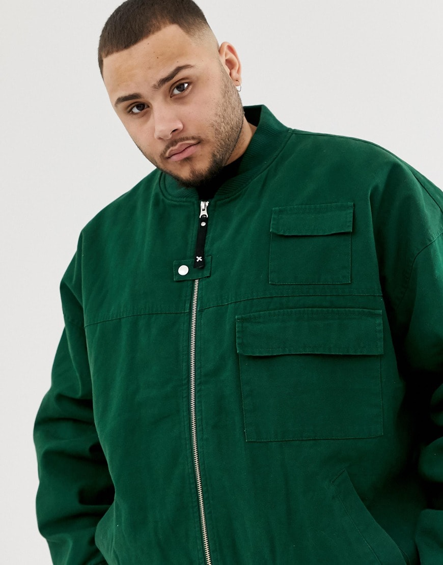 COLLUSION Plus canvas bomber jacket | ASOS Style Feed