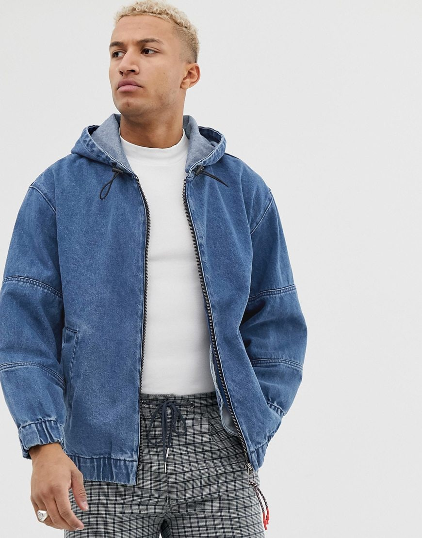 Bershka denim bomber jacket | ASOS Style Feed