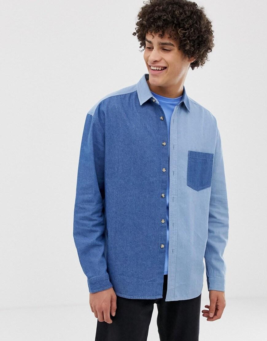 ASOS DESIGN - Chemise oversize en jean avec découpes style années 90 34,99 €
