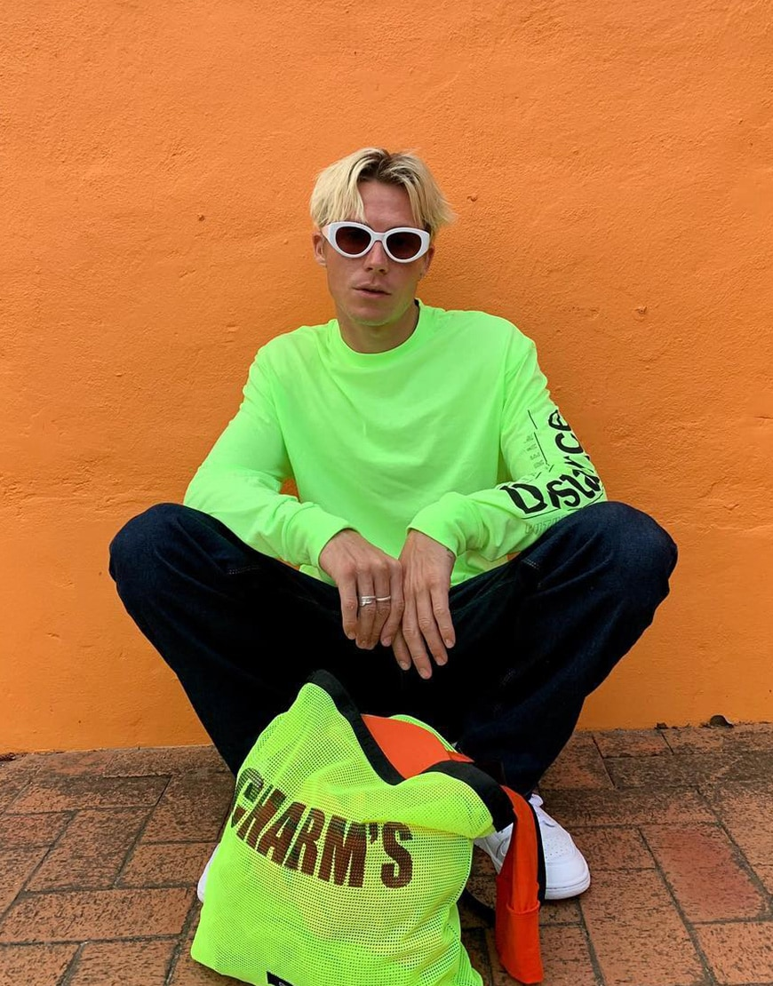 A picture of an ASOS Insider in a neon outfit.