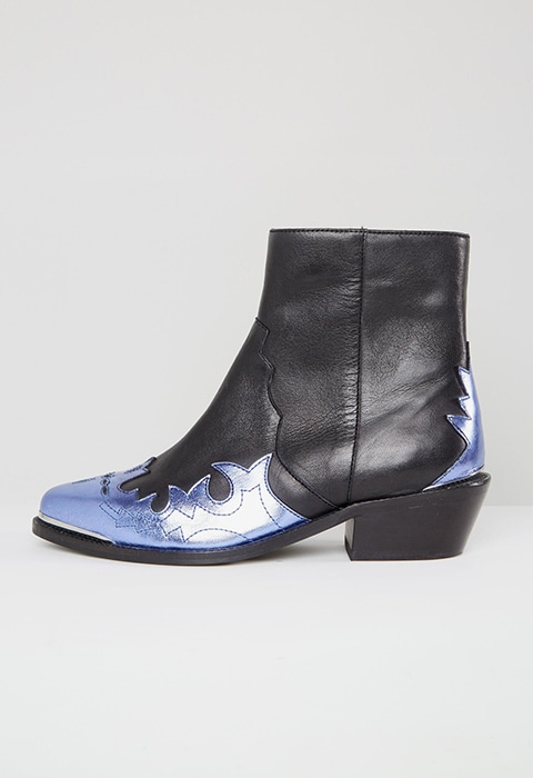 ASOS ARTESSA leather western ankle boots, available at ASOS | ASOS Fashion & Beauty Feed