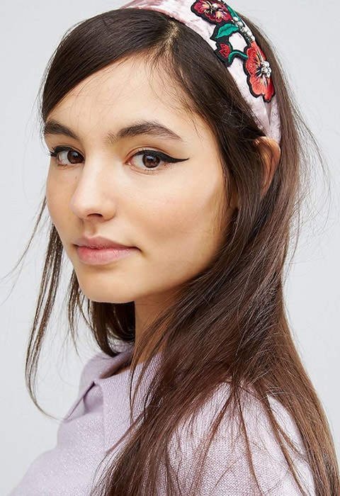 Limited Edition Embroidered Velvet Headband