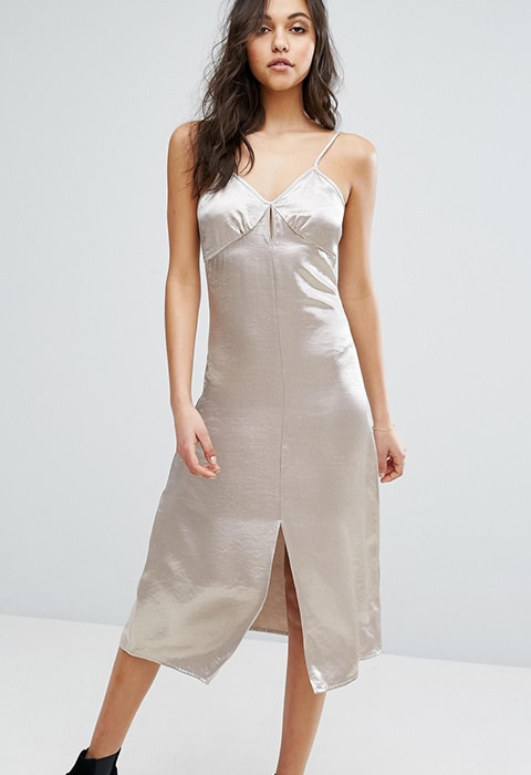 Glamorous Midi Cami Dress In Satin at ASOS