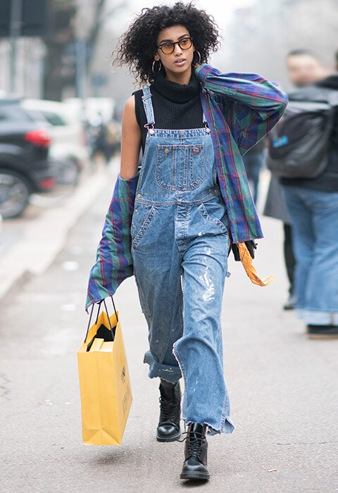 Model Imaan Hammam at Milan Fashion Week
