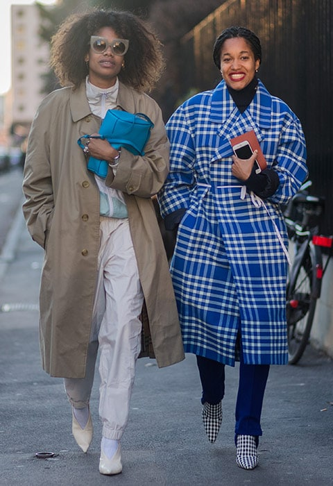 Bloggers wearing spring coats at fashion week | ASOS Fashion & Beauty Feed