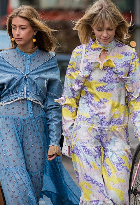 Bloggers wearing floral dresses at fashion week | ASOS Fashion & Beauty Feed