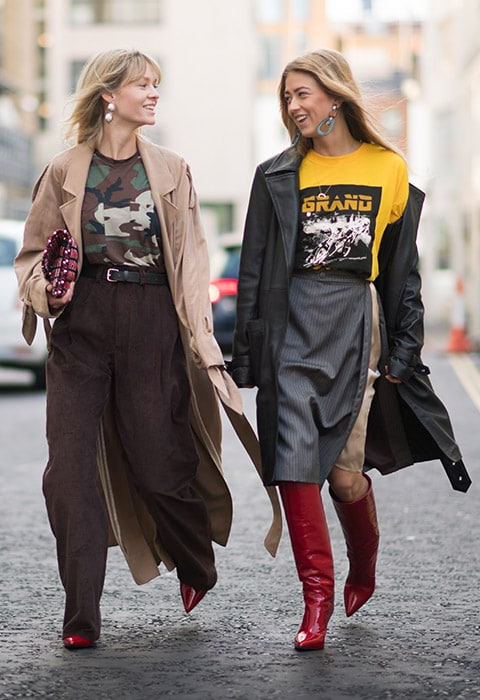 Bloggers wearing graphic tees at Fashion Month | ASOS Fashion & Beauty Feed