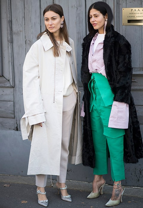 Bloggers wearing oversized sleeves at fashion week | ASOS Fashion & Beauty Feed