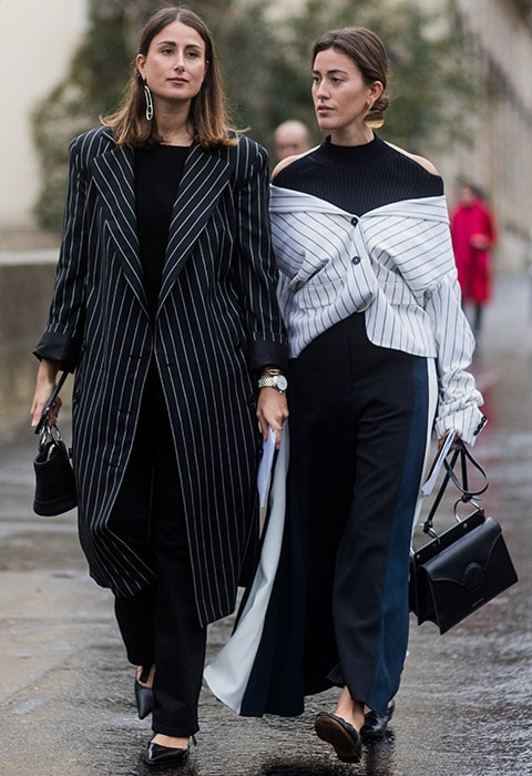 Bloggers wearing pinstripes at fashion week | ASOS Fashion & Beauty Feed
