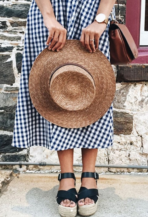 Blogger wearing a gingham dress on holiday available at ASOS | ASOS Fashion & Beauty Feed