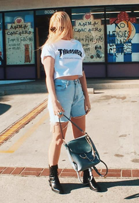 #AsSeenOnMe blogger wearing a Thrasher t-shirt