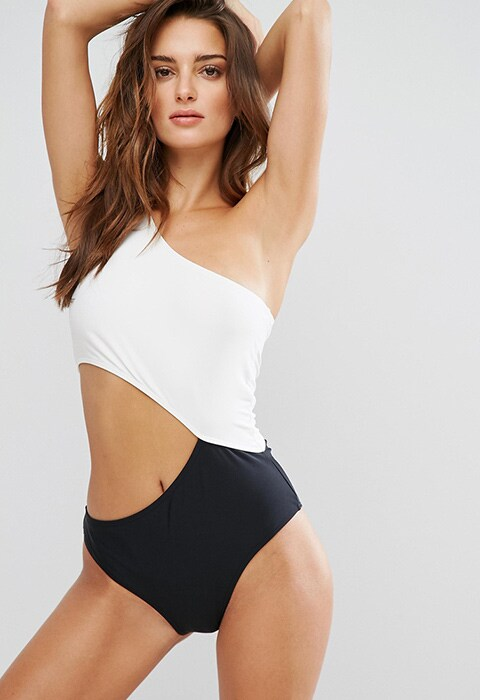 Noisy May Tan Lines Colour Block Swimsuit