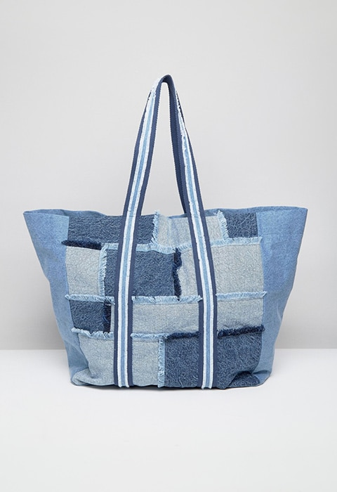 ASOS Blue Oversized Denim Patchwork Shopper Bag £28 | ASOS Fashion & Beauty Feed