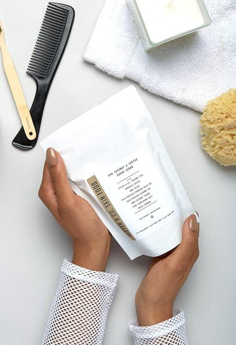 Sister & Co Raw Coconut & Coffee Sugar Scrub 300g, available on ASOS | ASOS Fashion & Beauty Feed