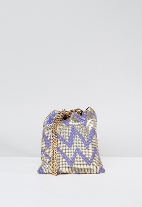ASOS Zig Zag Chainmail Pouch Clutch Bag, available at ASOS | ASOS Fashion and Beauty Feed