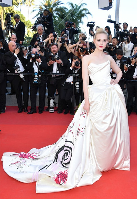 Elle Fanning wearing a custom-made Vivienne Westwood dress | ASOS Fashion & Beauty Feed