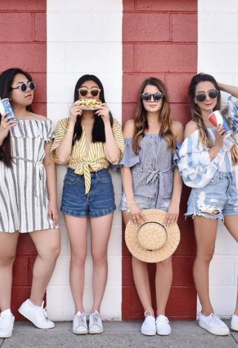 #AsSeenOnMe bloggers girl squad wearing stripes | ASOS Fashion & Beauty Feed