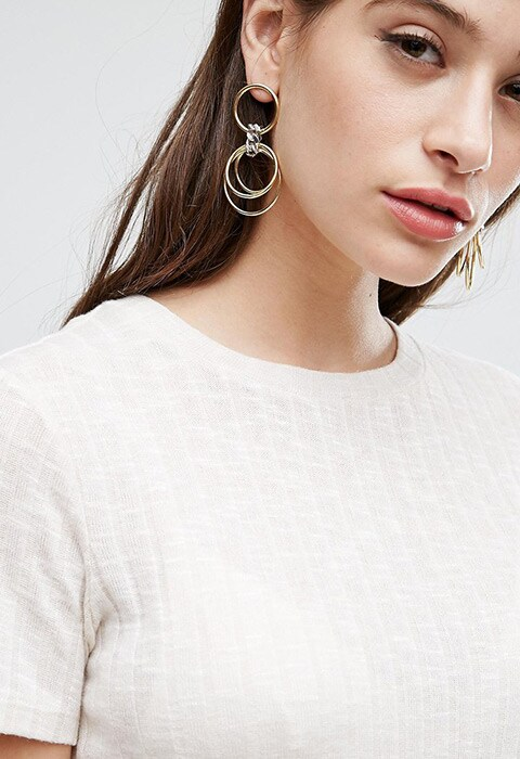 Limited Edition Chain Wrapped Hoop Earrings, available on ASOS | ASOS Fashion & Beauty Feed