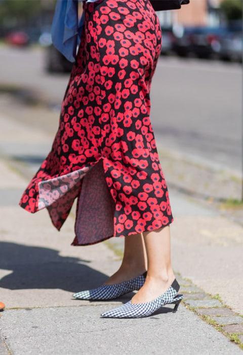 Poppy pattern skirt
