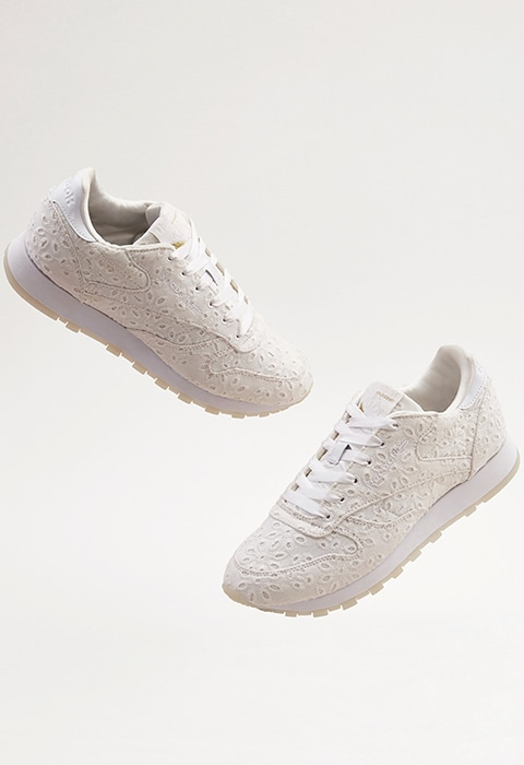 ASOS WHITE x Reebok Classic Leather In Broderie Anglaise | ASOS Style Feed