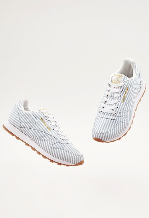 ASOS WHITE x Reebok Classic Leather In Shirting Stripe | ASOS Style Feed