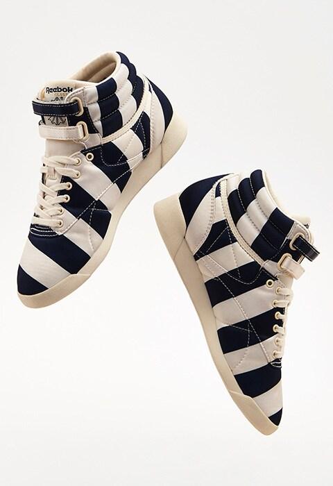 ASOS WHITE x Reebok Freestyle In Satin Stripe | ASOS Style Feed
