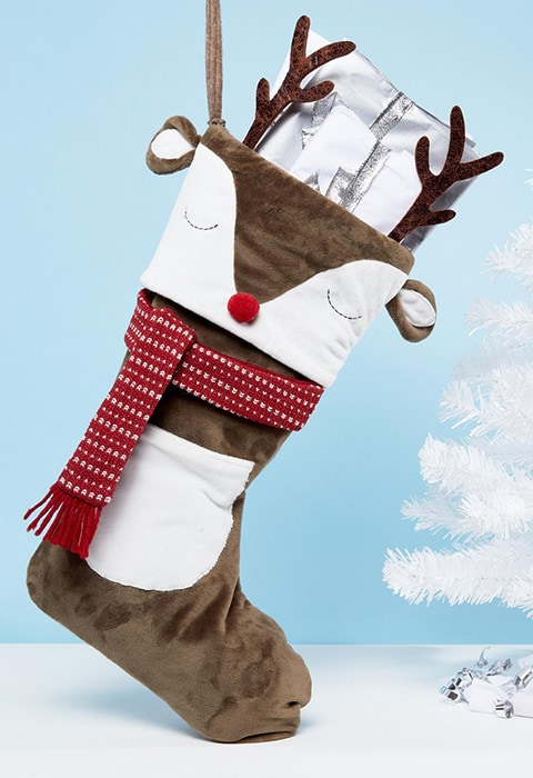 Sass & Belle Reindeer Christmas Stocking