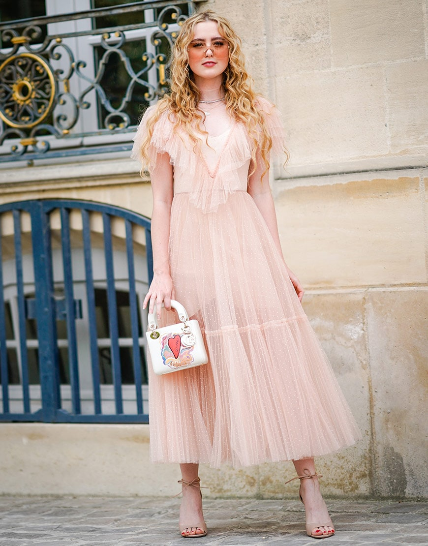 A nude dress suitable for a wedding at the Paris Couture shows  | ASOS Fashion & Beauty Feed