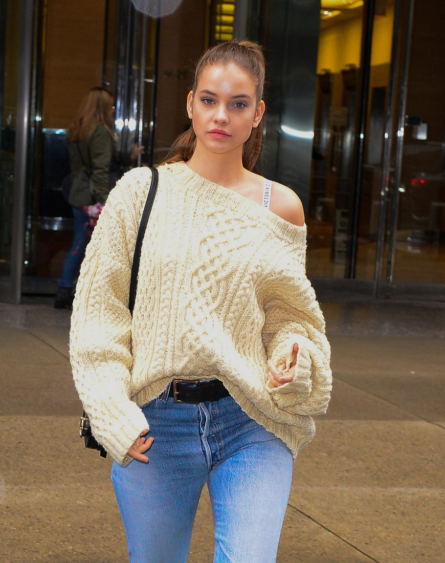 Street style image of a cable knit | ASOS Style Feed